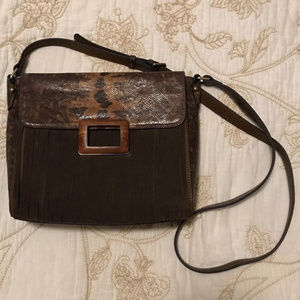 Sondra Roberts snake and suede leather (12-Gg)